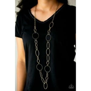 Paparazzi Brass Necklace & Earrings Set